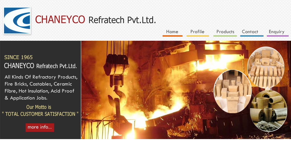 All Kinds Of Refractory Products, Fire Bricks, Castables, Ceramic Fibre, Hot Insulation, Acid Proof & Application Jobs